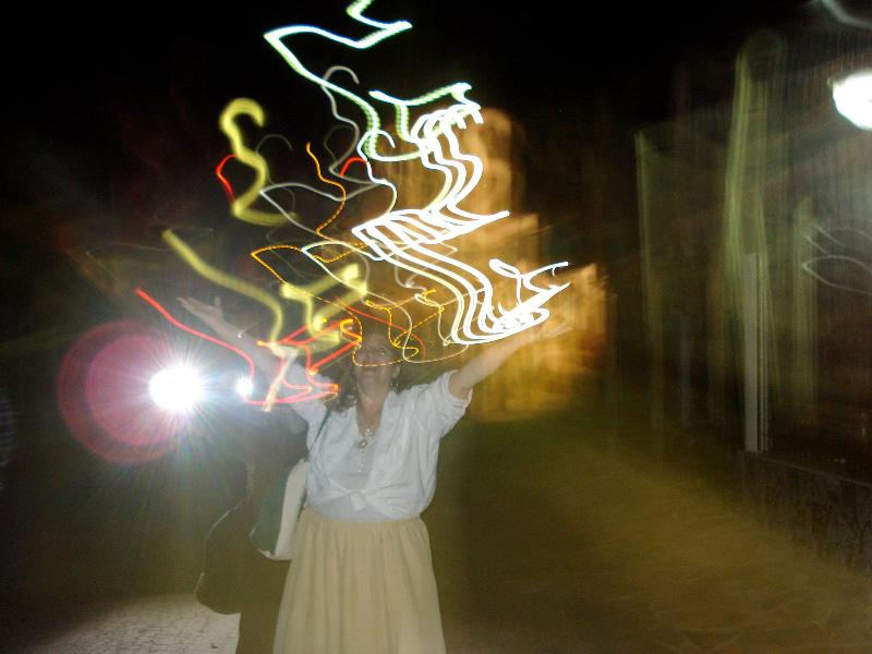 Nettie in Spirit Lights (unretouched photo) at the Casa in 2011