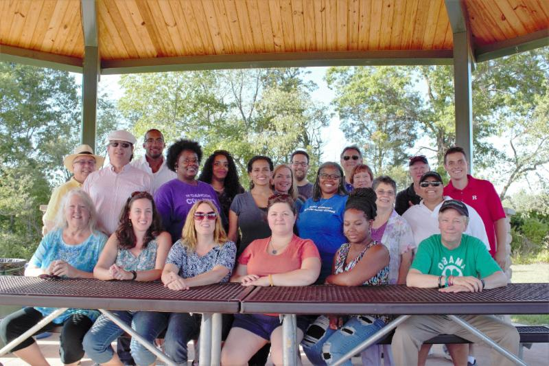 Group picture at Volunteer Appreciation BBQ 2015