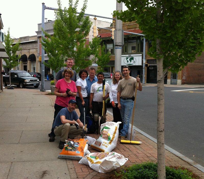 Volunteers help keep Norwalk looking sharp for visitors and residents.