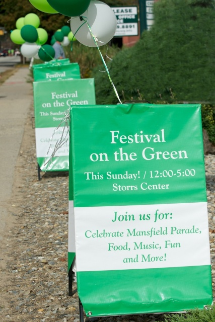 Mansfield Festival on the Green Sign