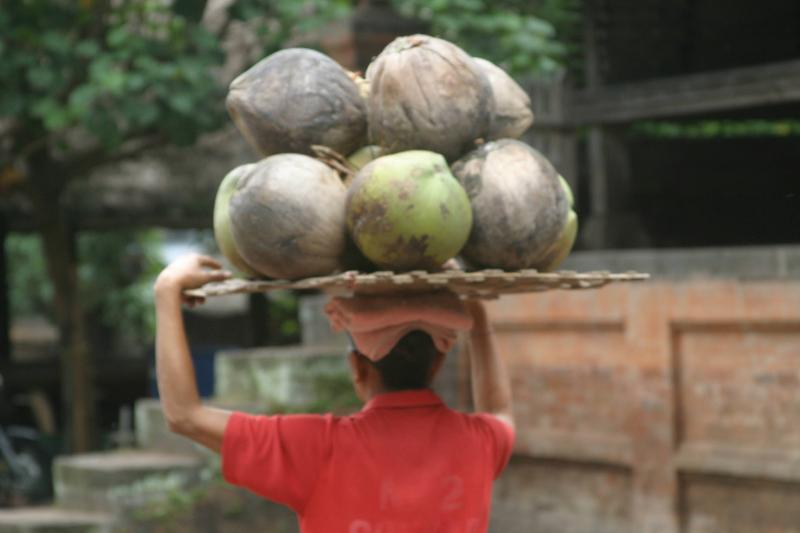 woman carrying a load