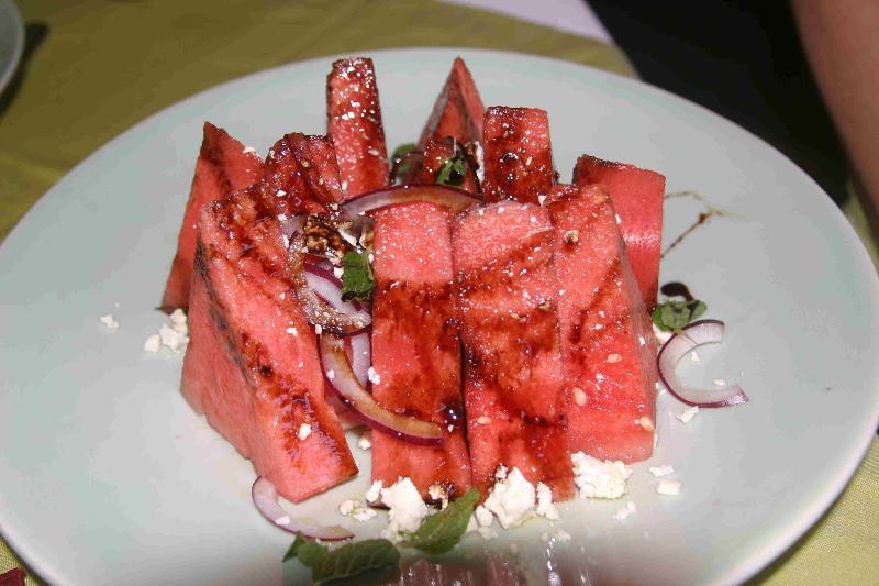 watermelon dish