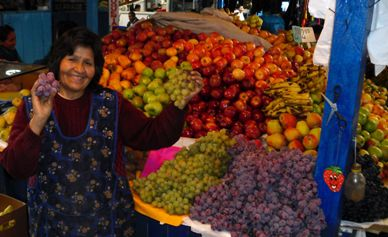 Peruvian Fruit Seller