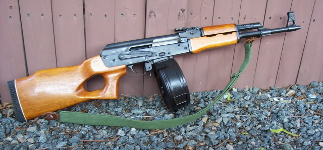 MAK 90 with 100 round drum and 30 round clip