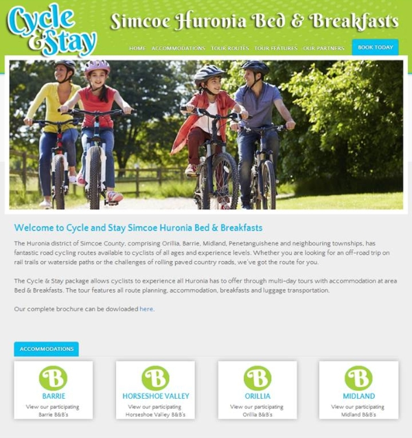 Photo source - Cycle and Stay Simcoe Huronia