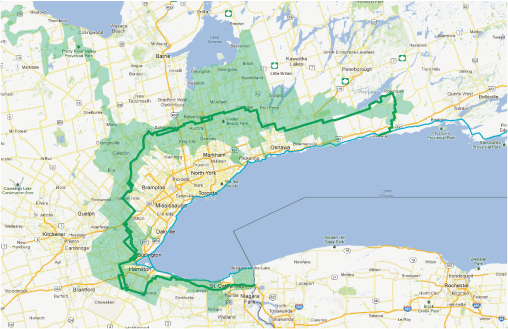 Greenbelt Cycling Route