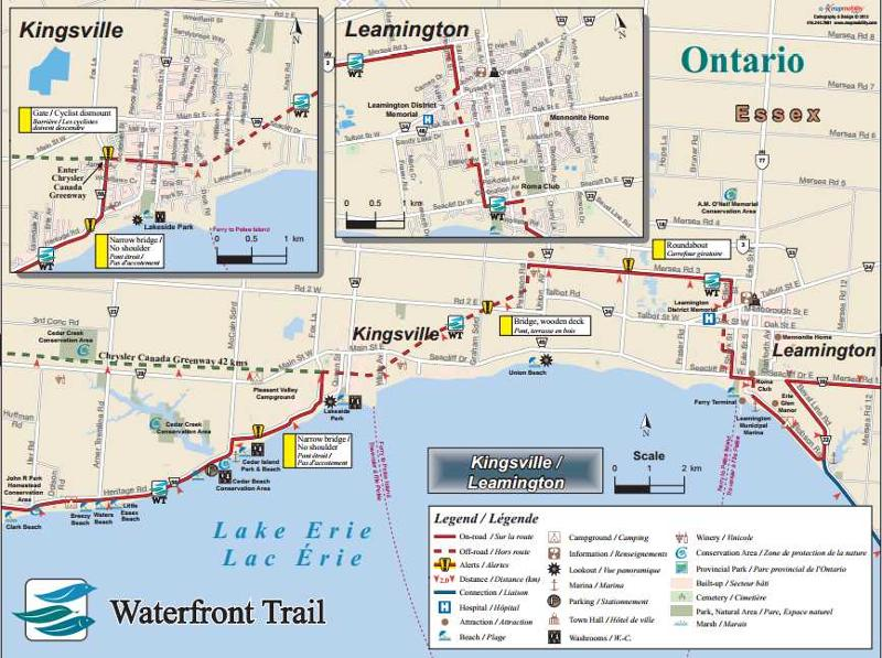 Lake Erie Waterfront Trail Map - Map 15