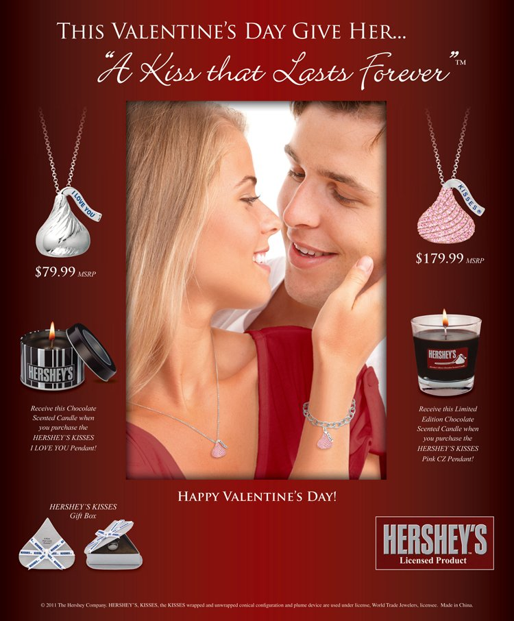 Corbo jewelers february newsletter give her a kiss that lasts forever this valentines day with hersheys kiss jewelry free scented candle with purchase of selected hershey kiss pendants mozeypictures Choice Image