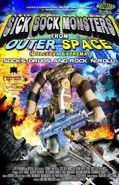 Troma entertainment acquires alberto genovese s sick sock for Outer space poster design