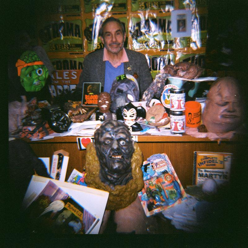 Troma President Lloyd Kaufman Captured at his Desk by a Lomography Store Diana F Camera