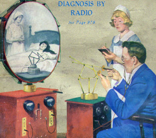 A doctor's diagnosis by radio