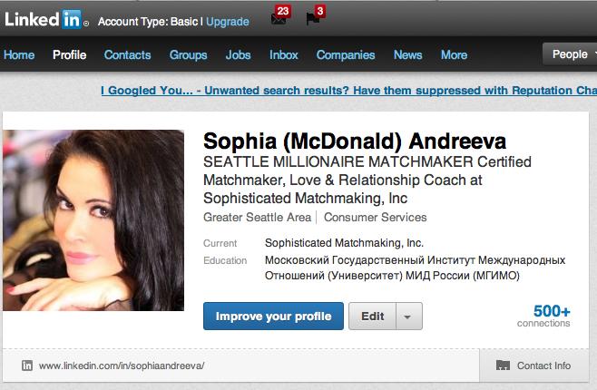 Sophia Andreeva LinkedIn Account