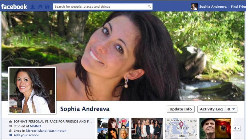 Sophia Andreeva Facebook Page