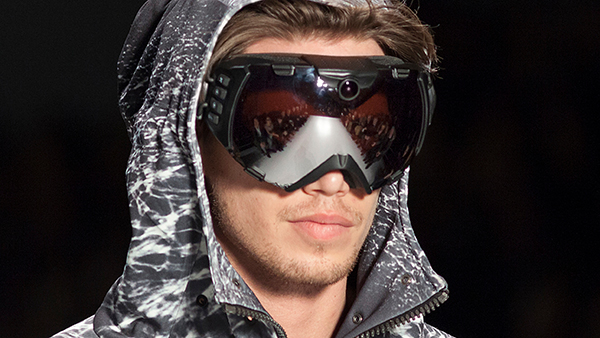 Nautica is known for its men's sportswear, like these ski goggles