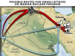 Israel Attack Routes