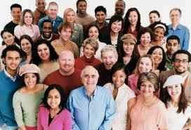 mingled people