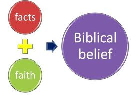 Fact faith biblical view. Why