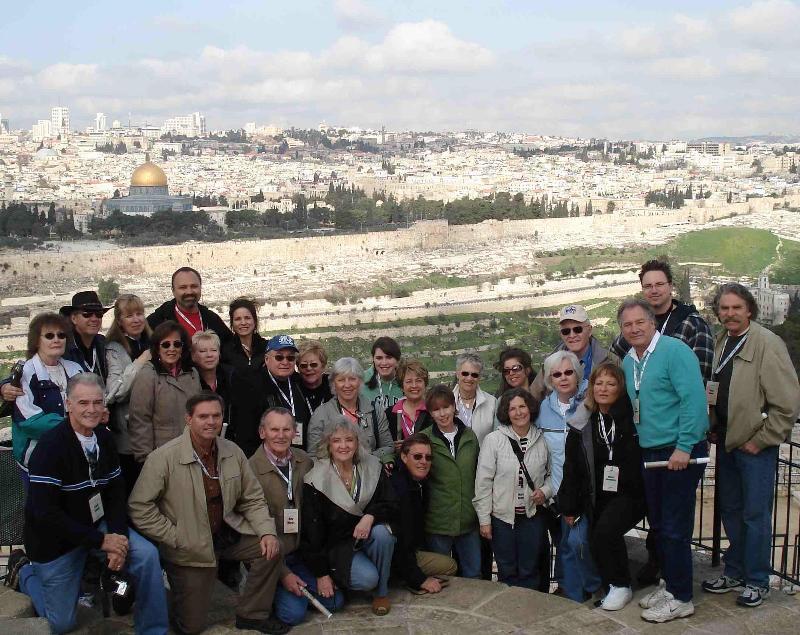Group on Mt Olives