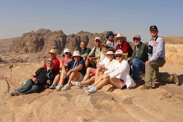 Petra group on top of place of sacrifice