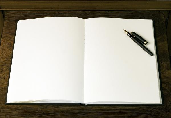 Writing in a book