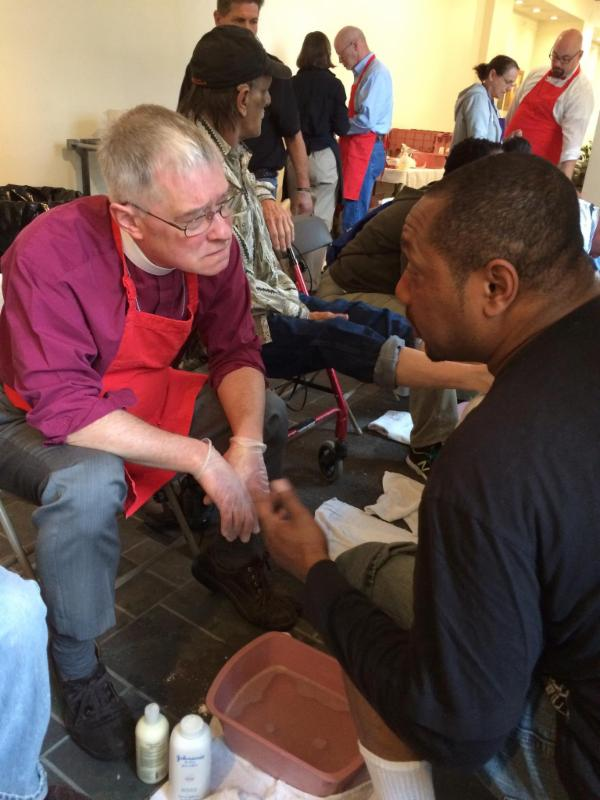 Bishop Breidenthal at Sole Clinic Maundy Thursday, April 2, 2015
