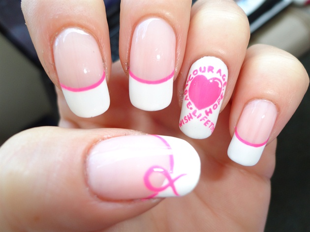 Breast Cancer Nail Polish Designs