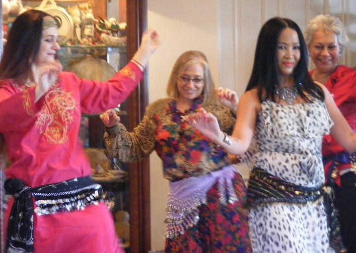 Marguerite & Lani social dancing