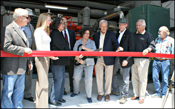 Ribbon-cutting ceremony at El Estero Wastewater Plant