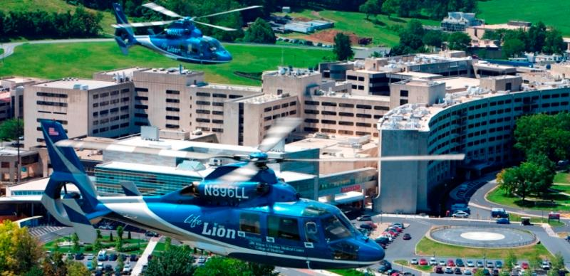 Helicopter over Medical Center