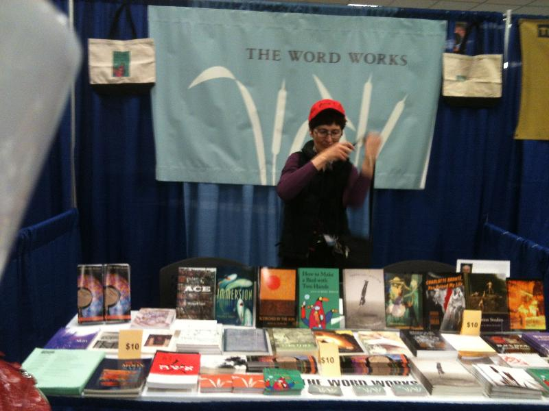 karren at AWP booth