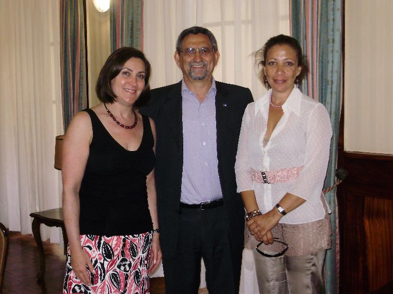 Castiel, Cape Verdean President Jorge Fonseca, Sofia Veiga at Presidential Palace, March 2012, Praia