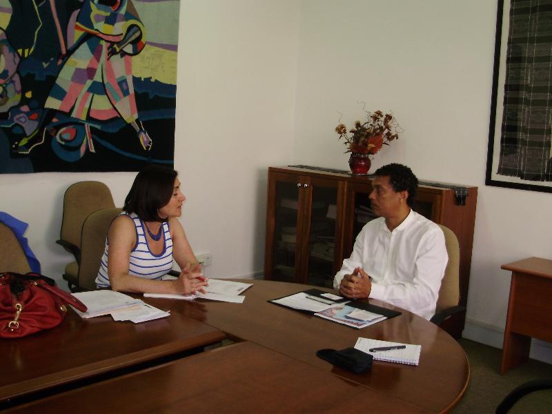 Cape Verde Minister of Culture Mario Lucio and Carol Castiel, March 2012