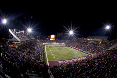 Annual spring football game to be played under new stadium lights
