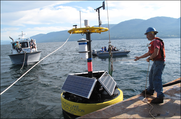 Flathead Lake buoys