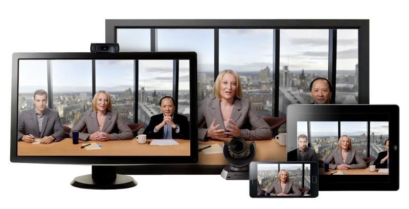 Videoconference on tablet