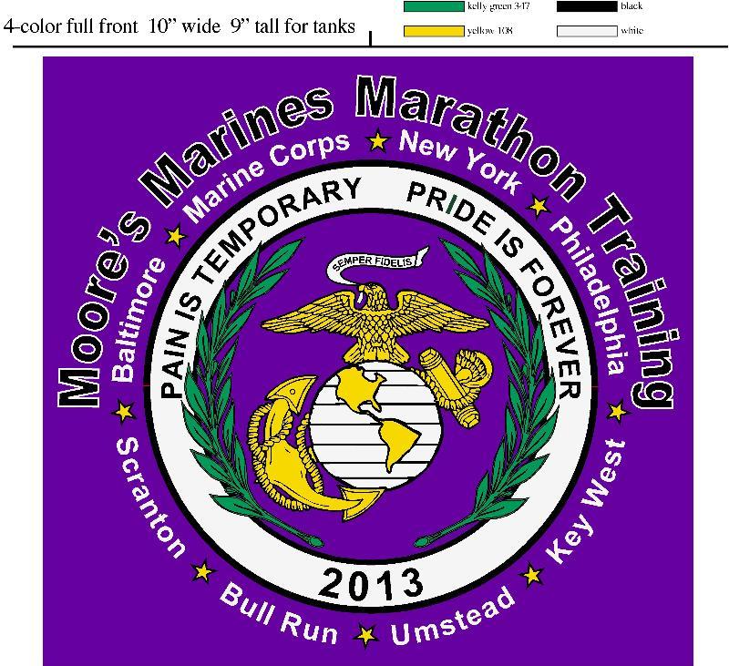 2013 Moore's Marines shirts - frong
