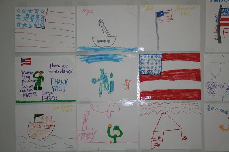 Drawings made by military-connected children