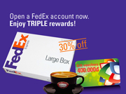 Open FexEx account and enjoy TRIPLE rewards. Jan 21, 2013