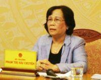 MOLISA Minister Pham thi Hai Chuyen
