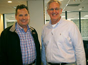 Jesse Stricker of Intek Corp with Gov. Nixon
