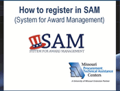 Instructions for registering in SAM