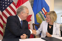 Nixon with Alberta premier