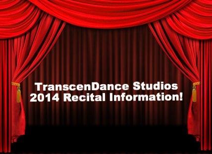 TDS 2014 Recital Information