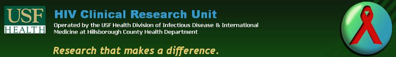 USF HIV Clinical Research Unit banner