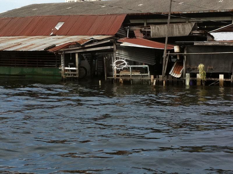 Flooded klong Bangkok 2011