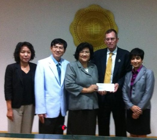 USF flood relief donation to SWU Nov 2011