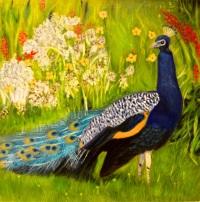 Peacock by Evangeline Alagaratnam