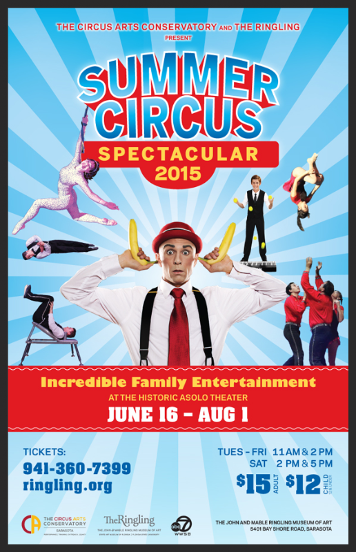 Poster for Summer Circus Spectacular 2015