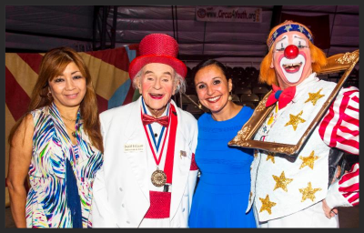 Pictured at La Cirque Appetit are Noriko Sidlow, Jackie LeClaire, Jennifer Mitchell and Chuck Sidlow.