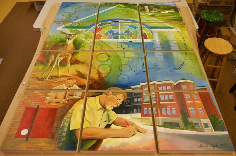 Camlin 12-panel mural completed